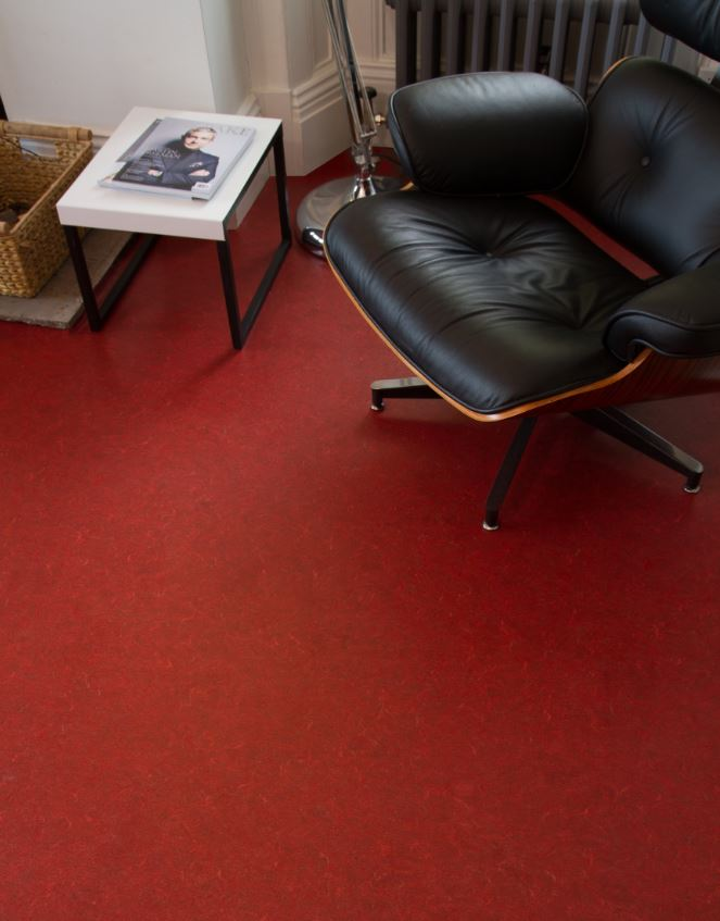Red Vinyl Flooring From 1199 Per M At Remland Carpets