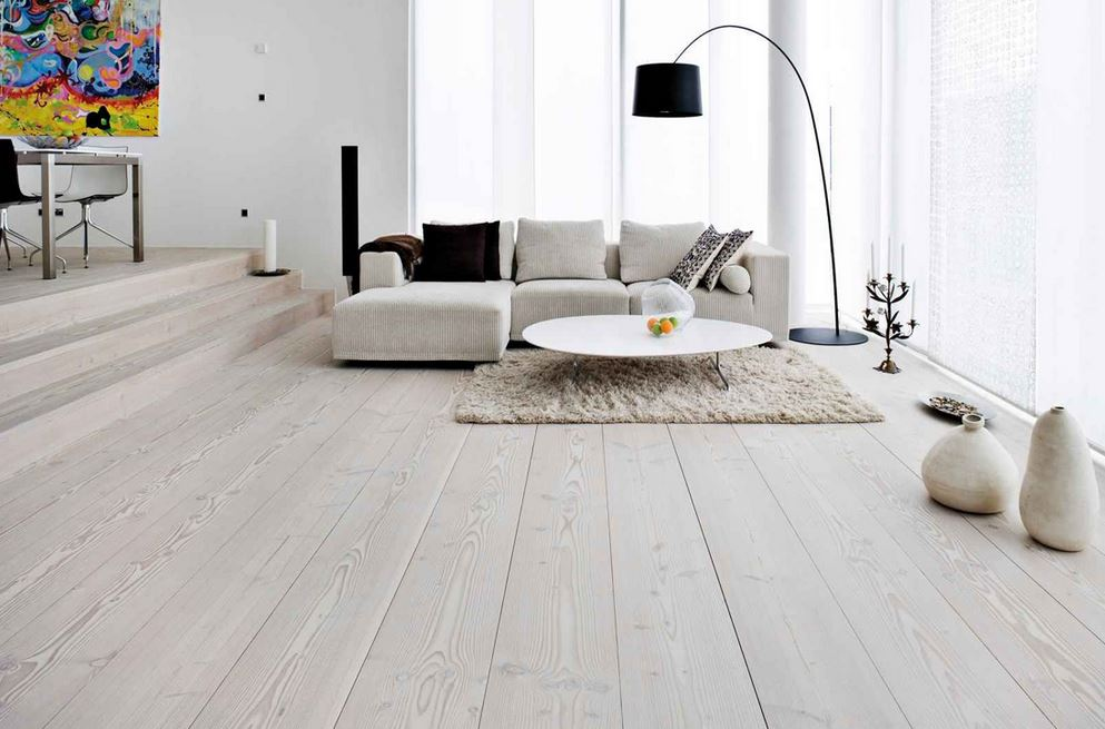 Furlongs Next Step 189 Ivory White Stained Brushed Oiled Wood