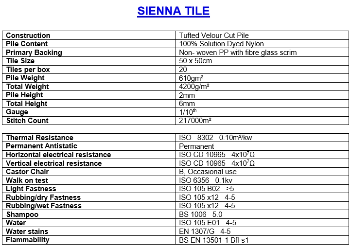 Jhs Sienna Carpet Tiles Available In 10 Designs From 163 17